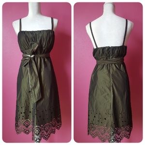Dresses & Skirts - Olive Laser Cut Dress